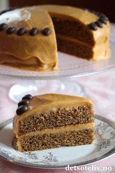Å, nam! Kaffekake med karamellkrem | Kaffe og karamell er deilige smaker