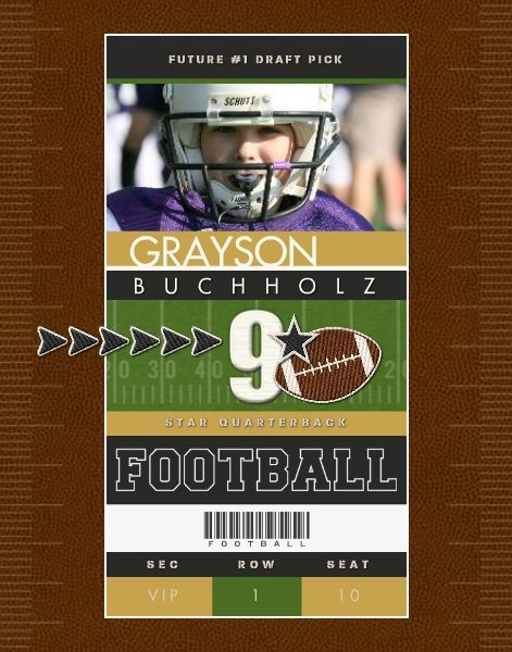 182 best My Sports Templates images on Pinterest Digital - foot ball square template