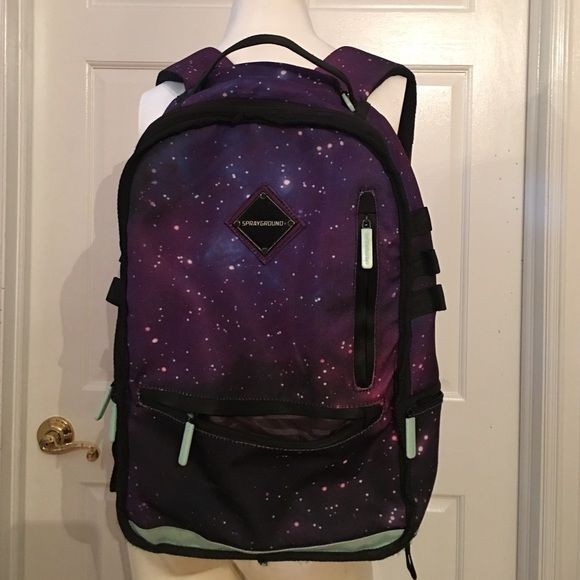 Glow in the dark backpack Glow-in-the-dark spray ground backpack great condition just a few tears on the shoulder straps it does show it in one of the pictures Sprayground Bags Backpacks