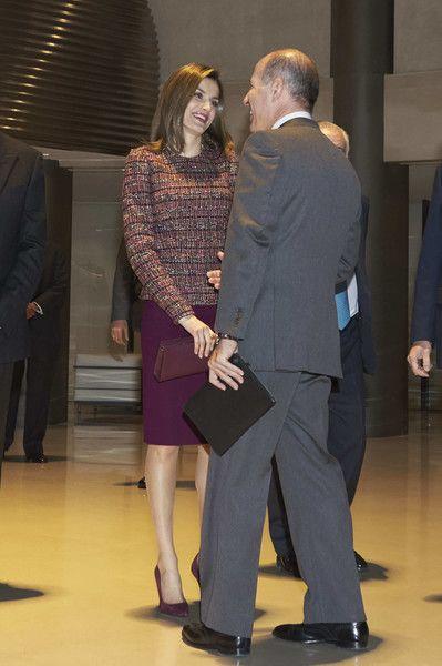 Queen Letizia of Spain meets FAD Foundation at Santander Bank on December 19, 2016 in Madrid, Spain.