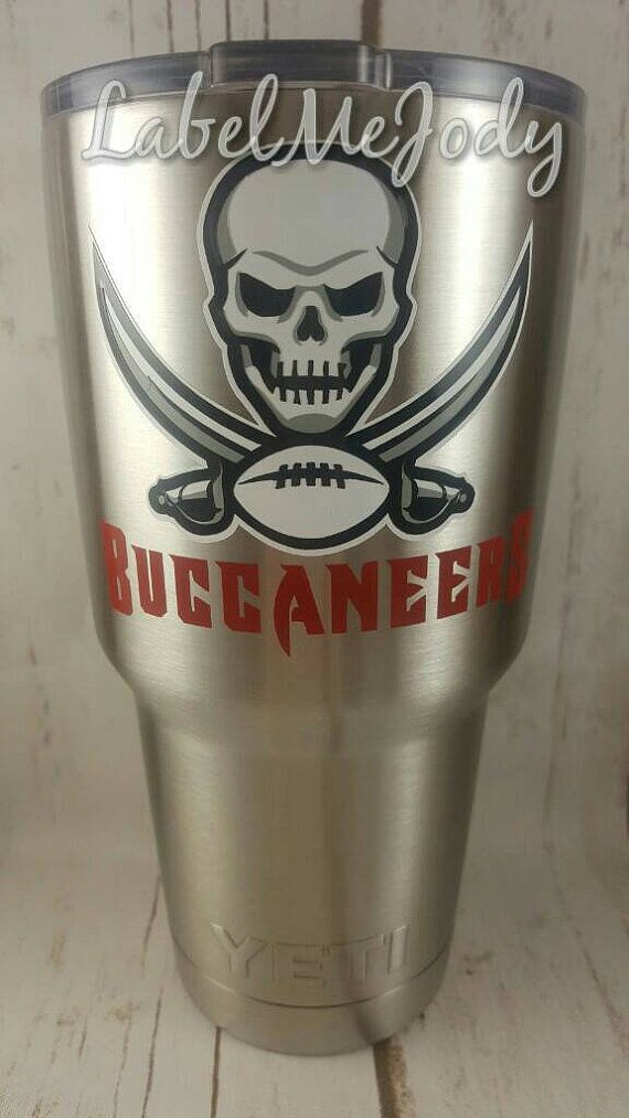 Check out this item in my Etsy shop https://www.etsy.com/listing/486389667/tampa-bay-buccaneers-decal-bucs-yeti-cup