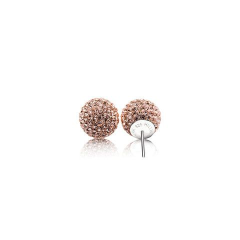 Rose Gold Sparkle Ball Earrings