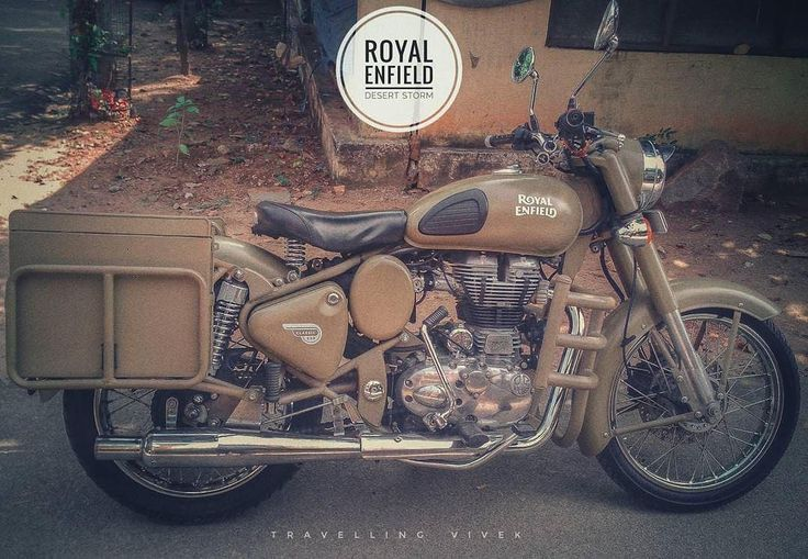 #Repost @travelling_vivek Well I don't prefer giving a cheesy name to my motorcycle. Neither I'm obsessed by it nor I decorate it with cosmetics. All I have is a deep respect for the machine & whatever is there is there for a purpose. In the picture : Royal Enfield Desert Storm 500cc with added panniers. British heritage Made in India. . . . ========================================================= Tag your pics and videos with @wheelsguru to be featured. Follow #wheelsguru @shahnawazkarim…
