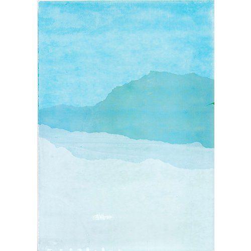 Grafika wydrukowana farbą rozpuszczalnikową na kredowanej tekturce, techniką sitodruku. rozmiar: a4 grafika jest w odcieniach niebieskiego