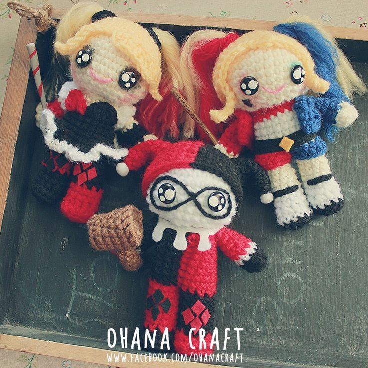 Suicide Squad Harley Quinn inspired crochet dolls https://www.facebook.com/OhanaCraft