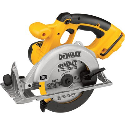 FREE SHIPPING — DEWALT Cordless Circular Saw — Tool Only, 18V, 6 1/2in. Blade, Model# DC390B