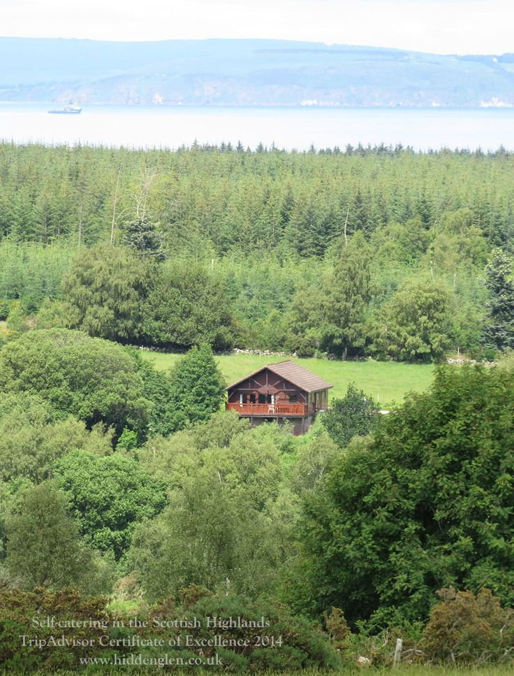 Kestrel's Nest Lodge with the Moray Firth and Black Isle behind.
