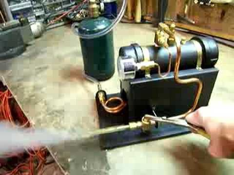 A hobby steam boiler made from fairly common materials.