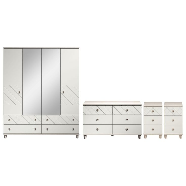 Thea 4 Door Mirrored Gents Wardrobe 6 Drawer Chest and 2 x 3 Drawer Bedsides – Next Day Delivery Thea 4 Door Mirrored Gents Wardrobe 6 Drawer Chest and 2 x 3 Drawer Bedsides from WorldStores: Everything For The Home