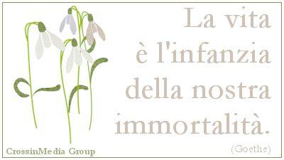 La #vita è l'#infanzia della nostra #immortalità. #immortale #anima #vitaeterna #eternità #vitaterrena (#Goethe)
