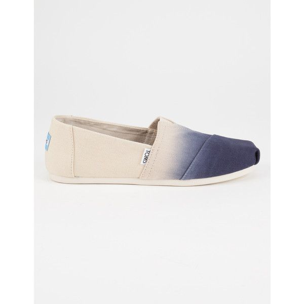 Toms Dip Dye Womens Canvas Classic Slip-Ons (75 CAD) ❤ liked on Polyvore featuring shoes, canvas slip on shoes, pull on shoes, slip-on shoes, dip dye shoes and flexible shoes