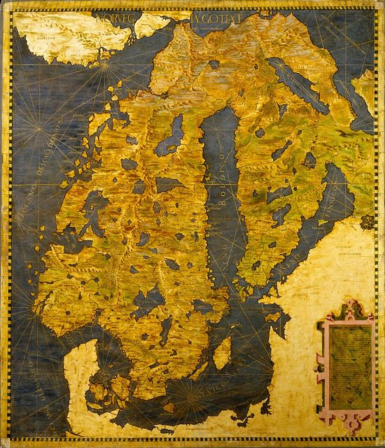 The Scandinavian Peninsula, Egnazio Danti, 1565, Room of the Maps, Italian cartography, XVI century  Zoom it on http://www.google.com/culturalinstitute/project/art-project?hl=it