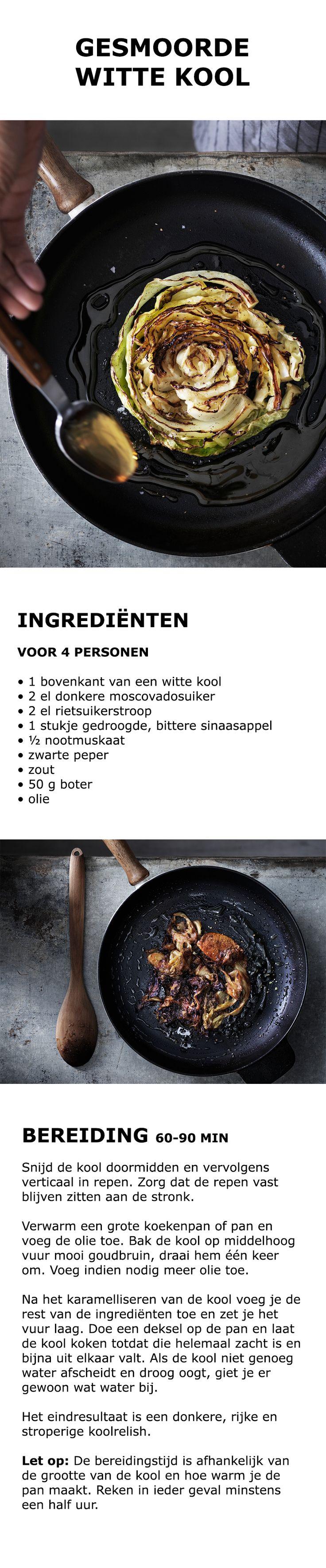 Inspiratie voor de feestdagen - Gesmoorde witte kool | IKEA IKEAnederland koken keuken recept herfst winter kerst diner lunch zweeds gerecht menu