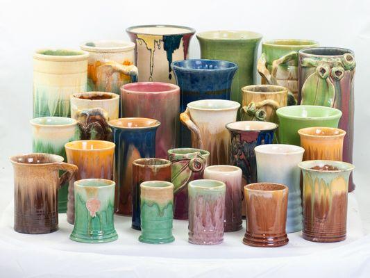 PPP & Remued cylinder shaped vases