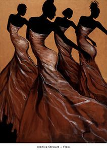 Flow Art Print by Monica Stewart  artisanartsonline.com  Beautiful and Strong!!