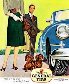 old school dachshund ad - general tire