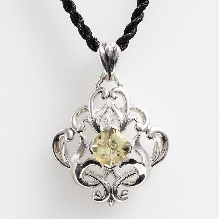 Lyric Sterling Silver Lemon Quartz Filigree Pendant, Women's, Yellow