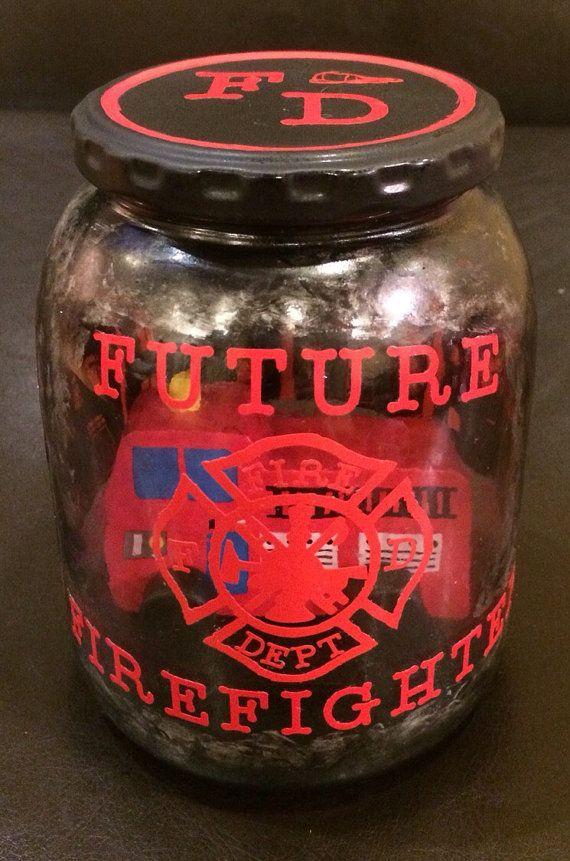 Future Firefighter LED night light. Fireman by AmericanaGloriana