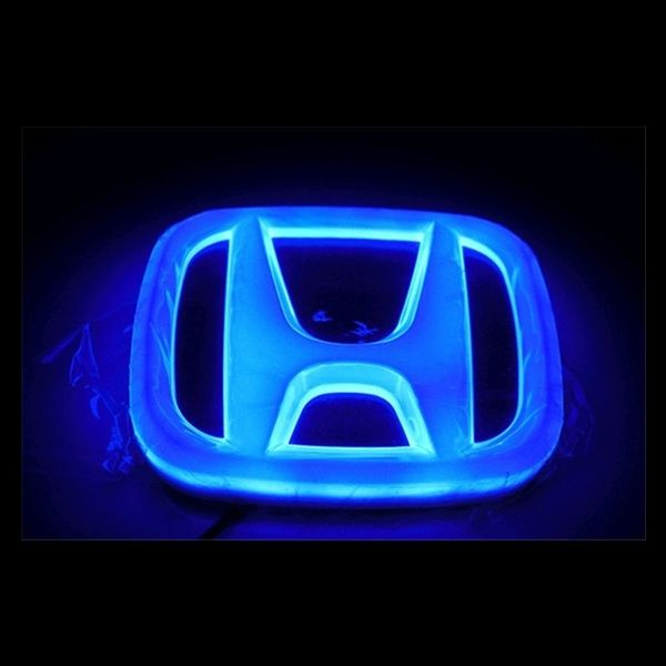 R Blue LED Car Decal Sticker Logo Badge Emblem Light Lamp SODIAL