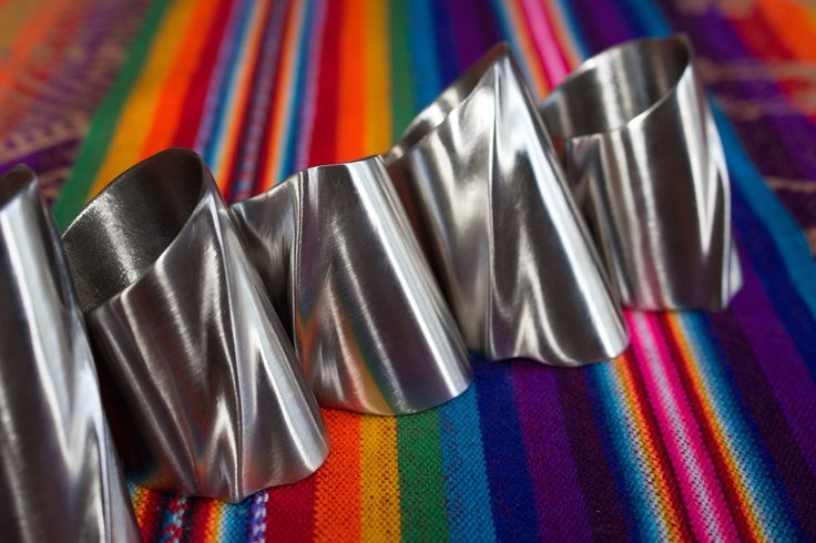 Napkin rings with a twist :) www.jamesjonessculpture.uk