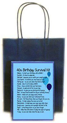 40TH BIRTHDAY SURVIVAL KIT BLUE