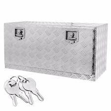 "[$114.95 save 46%] 36"" Aluminum Truck Underbody Tool Box Trailer RV Tool Storage Under Bed w/Lock"