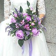 Wedding+Flowers+Round+Roses+Bouquets+Wedding+/+Party/+Evening+Satin+/+Silk+/+Bead+/+Rhinestone+–+USD+$+39.98