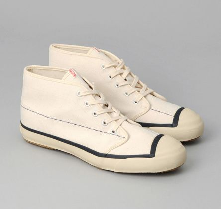 "SN3-279 - CHUKKA SNEAKERS, KAPTAIN SUNSHINE ""COAL STRIPE"" CANVAS :: HICKOREE'S"