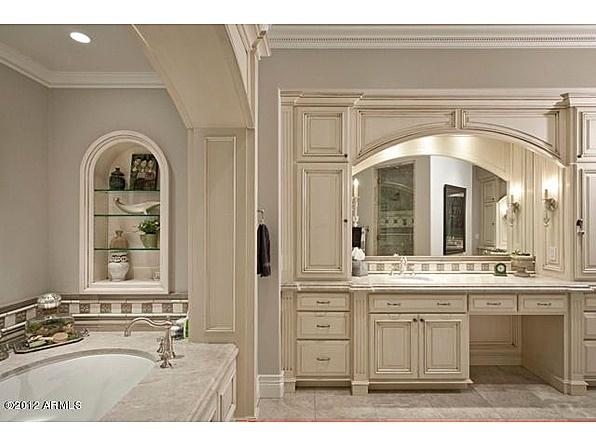 Arch Over Sink Tile Work Under Mirror Master Bathroom Pinterest Vanities Cabinets And Tile