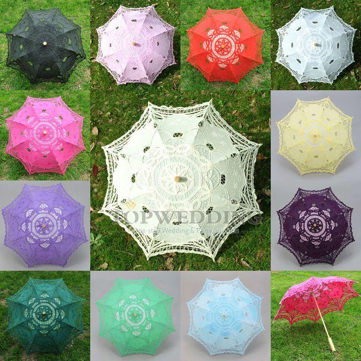Spitzenschirm Regenschirm Mädchen kinder Braut Schirm Hochzeit Sonnenschirm Neu