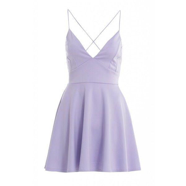 AX Paris Plain Plunge Front Skater Dress ($28) ❤ liked on Polyvore featuring dresses, vestidos, ax paris, purple skater dress, skater dress, plunge dress and ax paris dresses