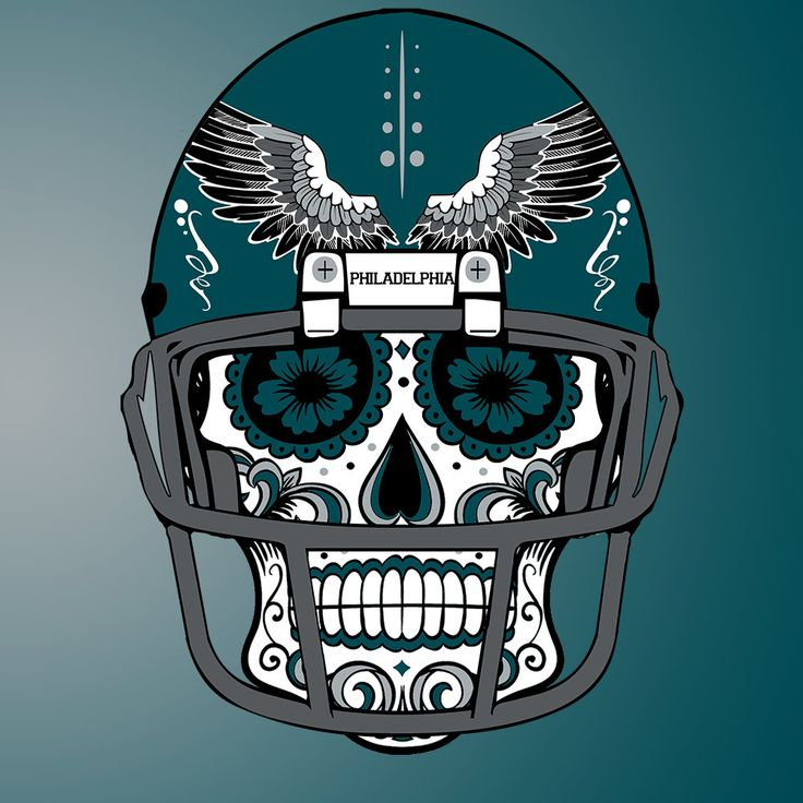 Philadelphia #Eagles Custom #NFL Sugar Skull (#calavera) Tees and Hoodies! by CustomClothingShop on Etsy