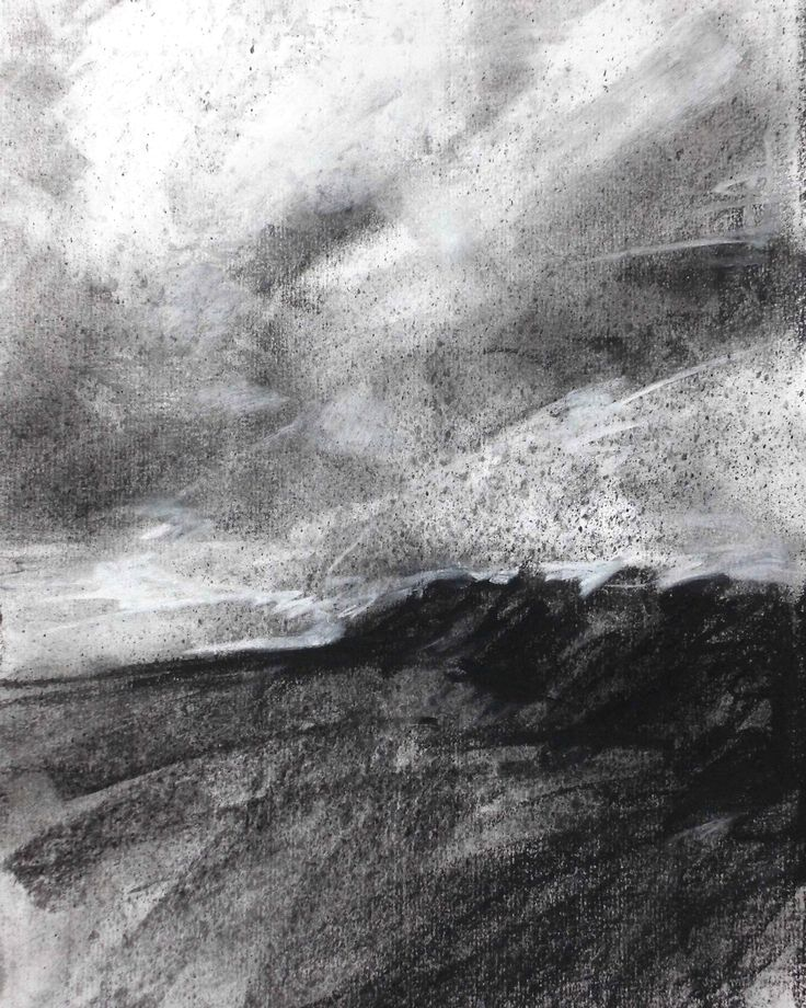 """Charcoal on Paper, 8"""" x 10"""", 2015.  For more examples, please see davidbrownpainter.co.uk"""