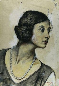 vincenzo_gemito_Ritratto_di_donna_di_profilo_con_perla_Coll privée_1923