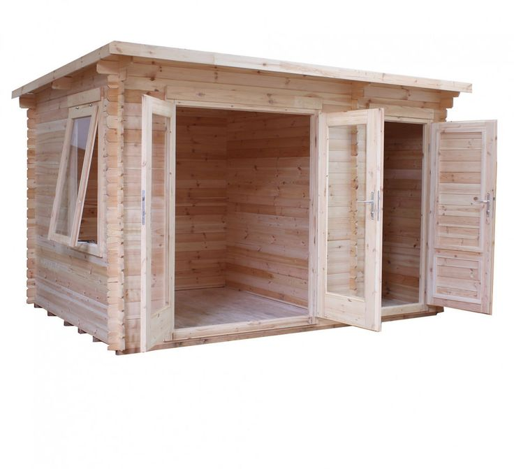 3.5m x 2.4m WOODEN GARDEN LOG CABIN 19mm TONGUE & GROOVE CLAD SINGLE GLAZING NEW