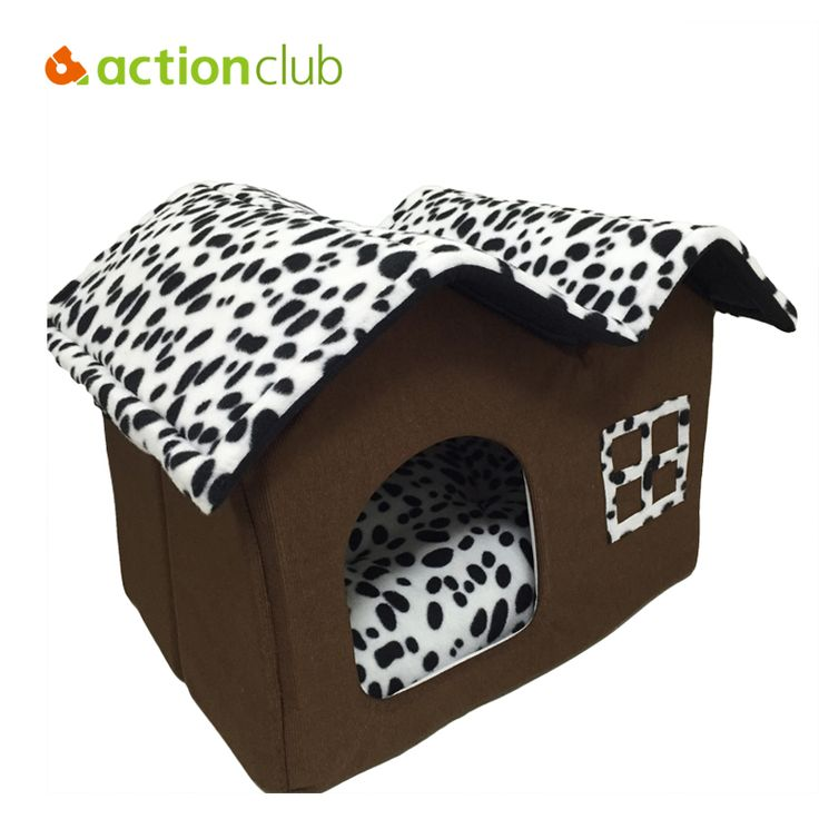 New in 2017 - Super Cute Double Roof Dog or Cat House     Tag a friend who would love this!     FREE Shipping Worldwide     Buy one here---> http://sheebapets.com/actionclub-dog-house-new-2017-pp-cotton-folding-dog-bed-for-large-dog-house-with-mat-pets-product-cats-house-2017-new-style/