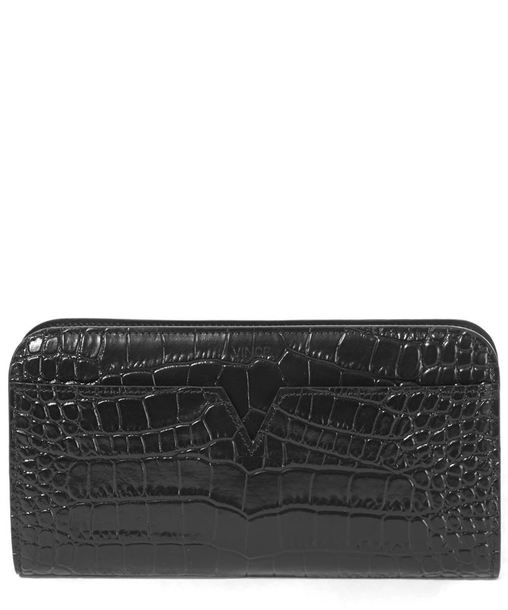 Vince Leather Croc Stamped Long Wallet | Accessories | Liberty.co.uk