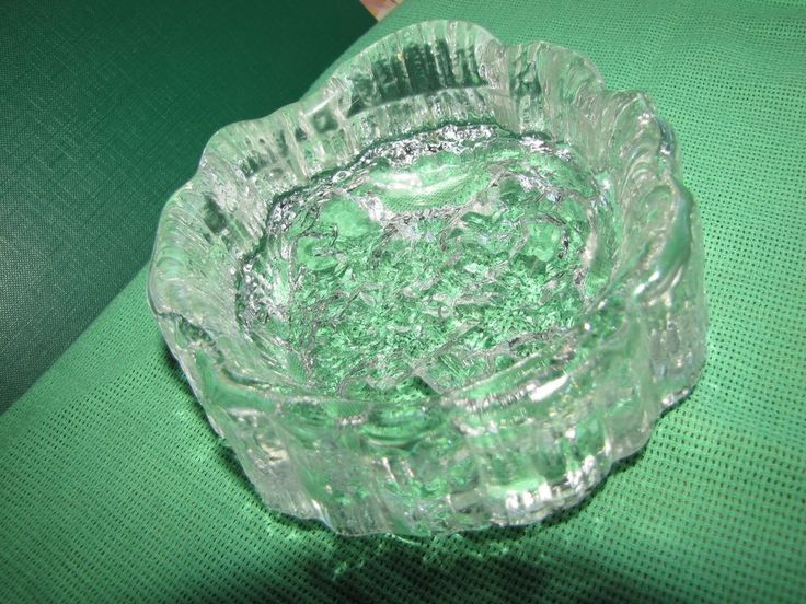 Vintage KOSTA BODA? ORREFORS? Pukeberg? Art Glass Vase bowl Ashtray Sweden