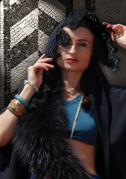 MY COLLECTION  ANTIC GEOMETRY  STILISTA -LILIANA LARISA CRACIUN TOP MODEL -SILVIA ELENA
