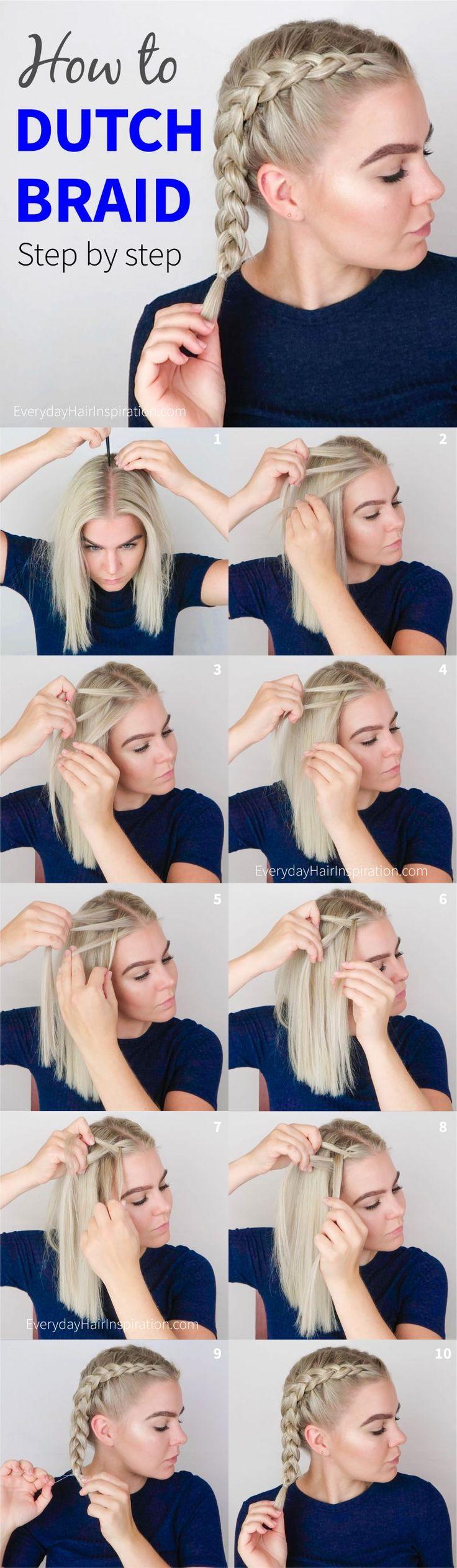 How to dutch braid step by step