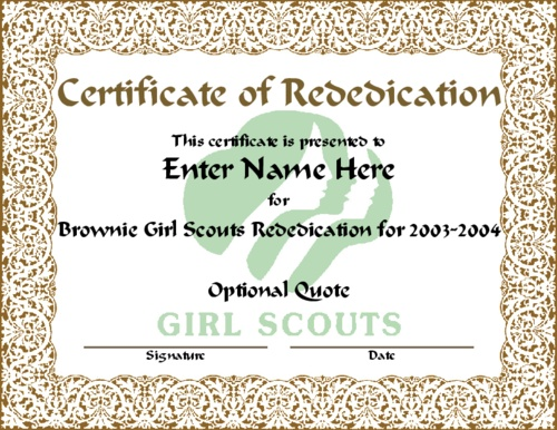 image regarding Girl Scout Certificates Printable Free named 100+ Daisy Invesure Rite Certification Printables