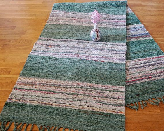 Pastel Color Rug 2.6 Meters Swedish Rag Rug by ScandicDiscovery