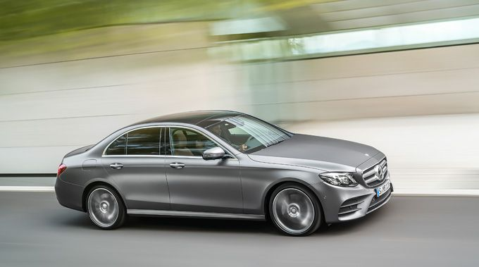 The new Mercedes-Benz E-Class on the road.