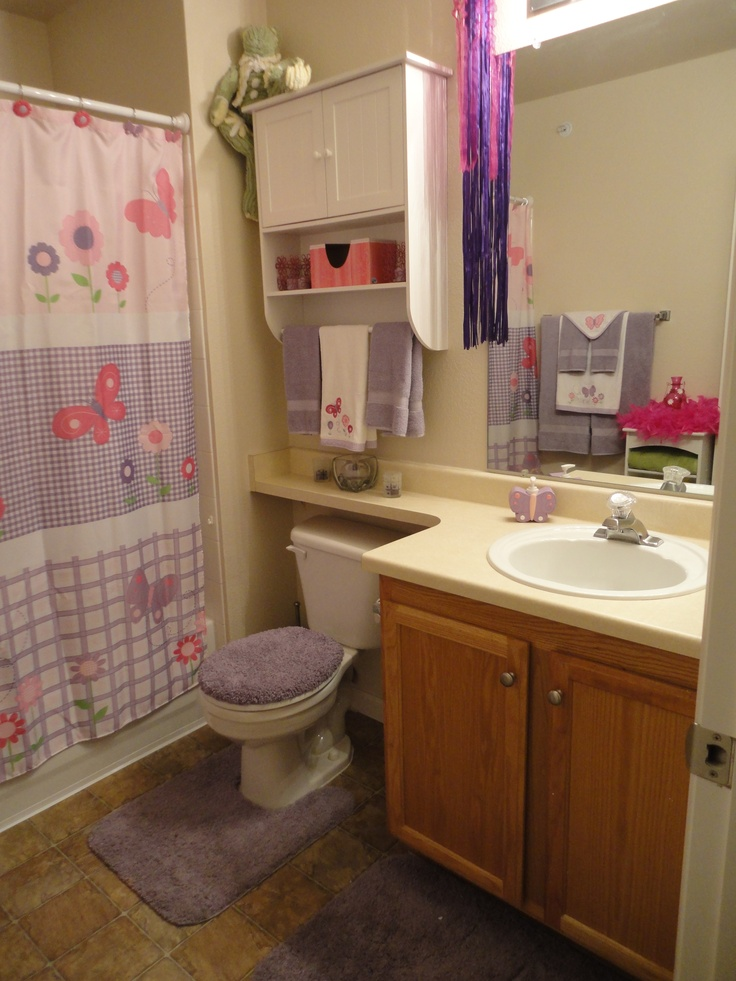 girl bathroom ideas 17 best images about girl s bathroom ideas on pinterest ruffle shower curtains bow holders 3127