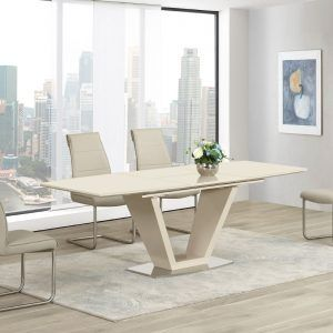 Cream Gloss Dining Room Table