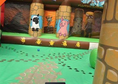 #inflatable #farmyard #bouncycastle #animals #sharkyandgeorge