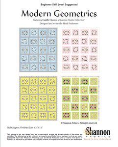 FREE DOWNLOADABLE PATTERN - Cuddle Modern Geometrics