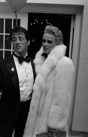 Sylvester Stallone and Brigitte Nielsen, 1986.