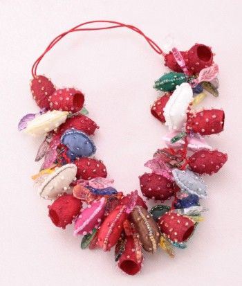 Sorya Red Ethnic Fashion Jewellery - silk cocoons!