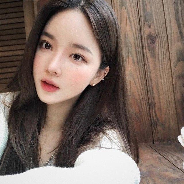 เมคอัพ สาวเกาหลี ส้ม แต่งหน้า | การแต่งหน้าอย่างเป็นธรรมชาติ, ความงาม,  ทรงผมเจ้าสาว